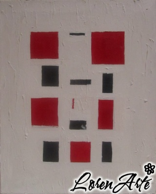 Blanco, negro, rojo